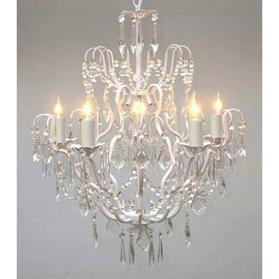 Harrison Lane Versailles 5 Light Crystal Chandelier T40-422