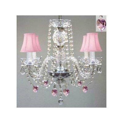 Joyce 4-Light Crystal Chandelier
