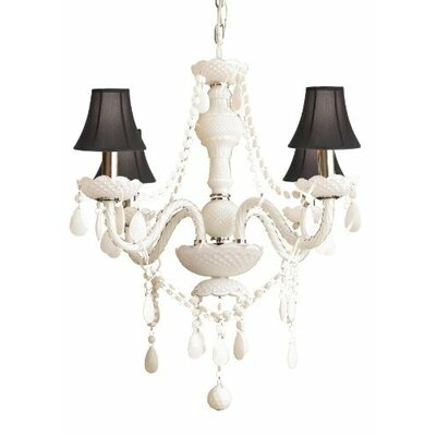 Royal 4-Light Shaded Chandelier Shade Color: Black
