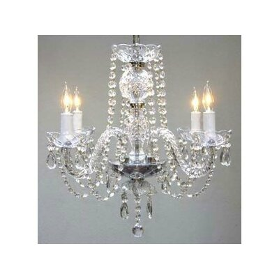 Linkwood 4-Light Crystal Chandelier
