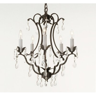 Clemence 5-Light Crystal Candle-Style Chandelier