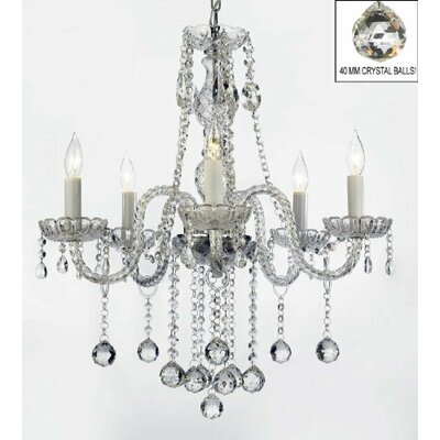 Meredith 5-Light Steel Crystal Chandelier