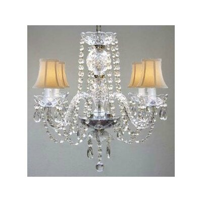 Atchley 4-Light Crystal Chandelier
