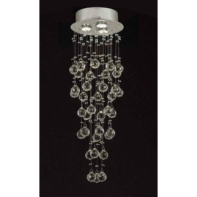 Rain Drop 3-Light Crystal Chandelier