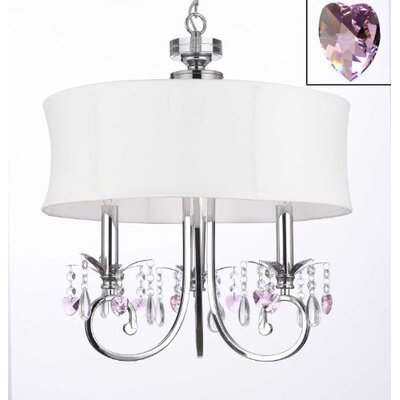 Jusino 3-Light Crystal Chandelier