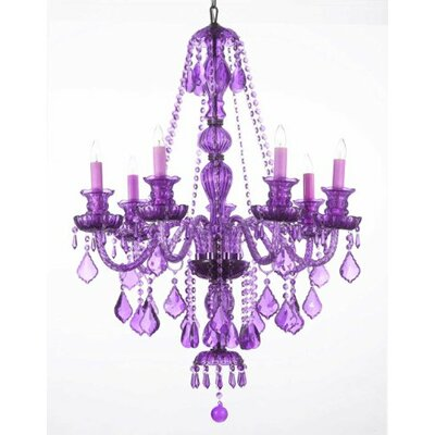 Royal 7-Light Crystal Chandelier Finish: Purple