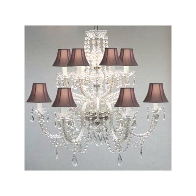 Juan 12-Light Crystal Chandelier Shade Color: Black