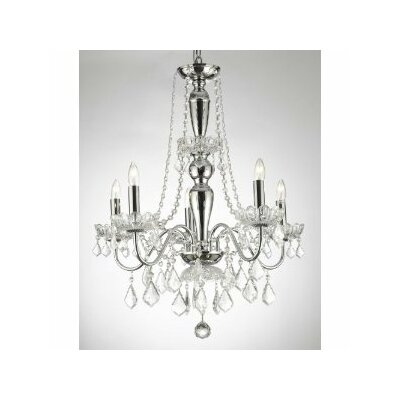 Royal 5-Light Crystal Chandelier Plug-In Kit: Yes