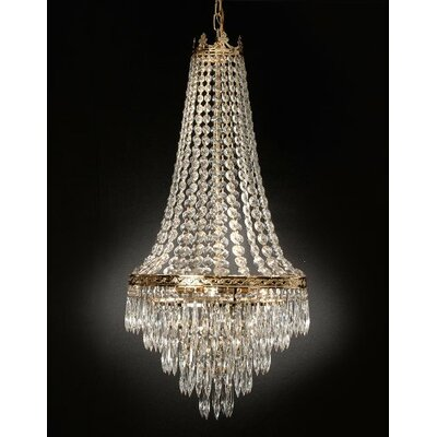 Kincheloe Swarovski Crystal 4-Light Empire Chandelier