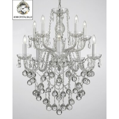 Keeton 10-Light Crystal Chandelier