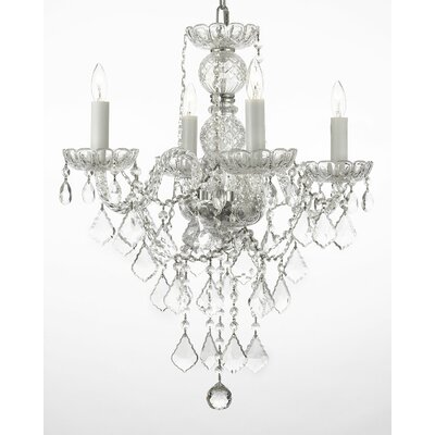 Keeton 4-Light Crystal Chandelier