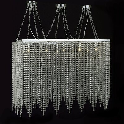 Modern 10-Light Kitchen Island Pendant
