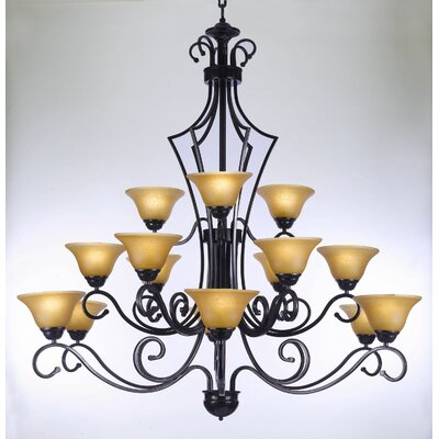 Toni 15-Light Shaded Chandelier