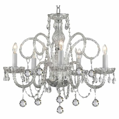 Joubert 5-Light Crystal Chandelier