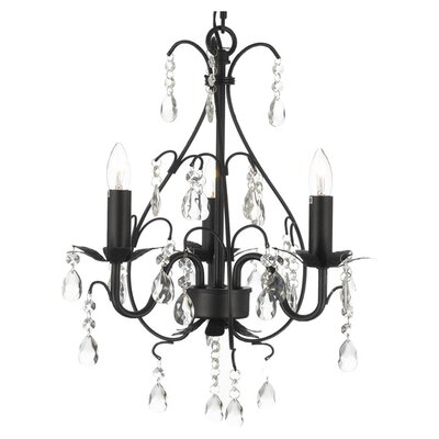 Alvan 3-Light Crystal Chandelier