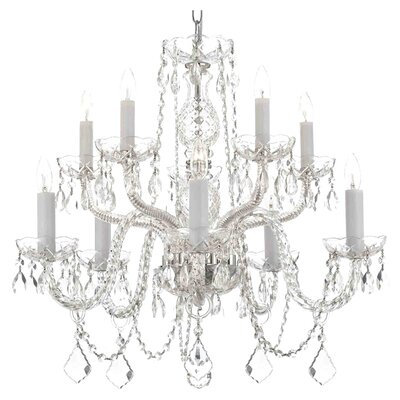 Harrison Lane 10 Light Crystal Chandelier T40-134