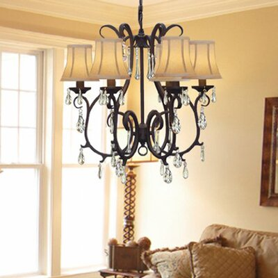 Versailles 6-Light Shaded Chandelier Plug-In Kit: Yes