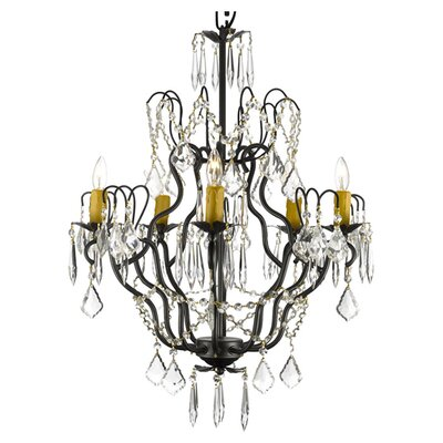 Clemence 5-Light Crystal Chandelier Feature: Plug-in Kit Included