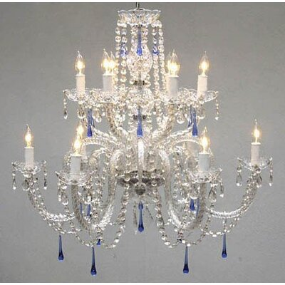 Kail 12-Light Crystal Chandelier