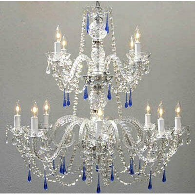 Kaler Swarovski 12-Light Crystal Chandelier