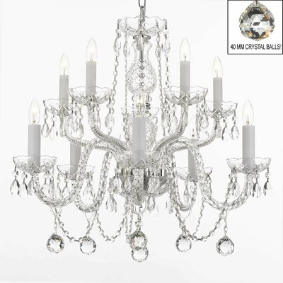 Brookman 10-Light Crystal Chandelier