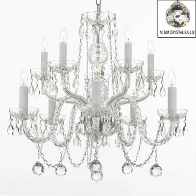 Kahler Swarovski 10-Light Crystal Chandelier