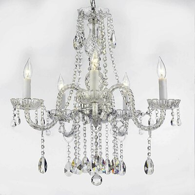 Meredith 5-Light 40W Crystal Chandelier