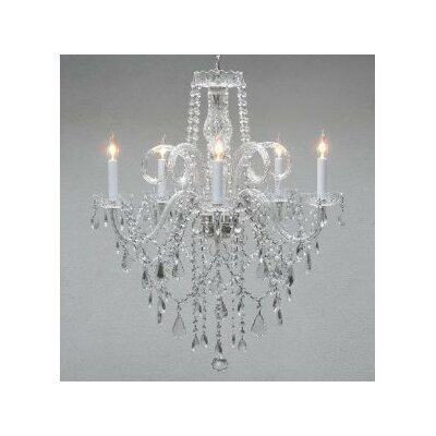 Kalgoorlie 5-Light Crystal Chandelier
