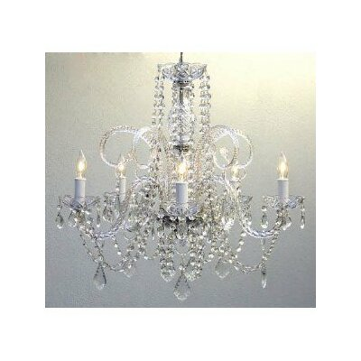 Swarovski 5-Light Crystal Chandelier