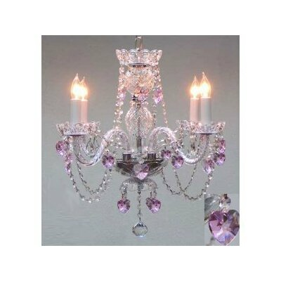 Kaneshiro 4-Light Crystal Chandelier