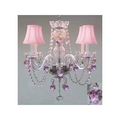 Kania Swarovski 4-Light Crystal Chandelier
