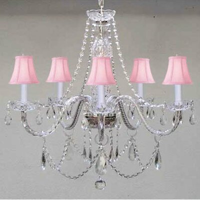 Meredith 5-Light Crystal Chandelier