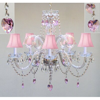 Kardos Swarovski 5-Light Crystal Chandelier