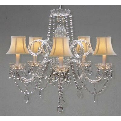 Kareem 5-Light Crystal Chandelier