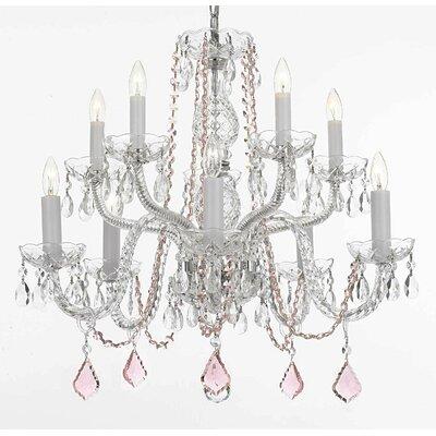 Karle 10-Light Crystal Chandelier