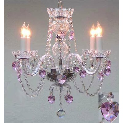 Karlson Swarovski 4-Light Crystal Chandelier