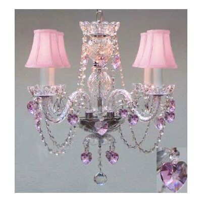 Karns Swarovski 4-Light Crystal Chandelier
