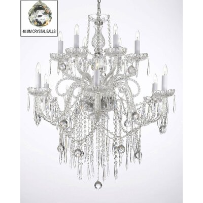 Karp 12-Light Crystal Chandelier