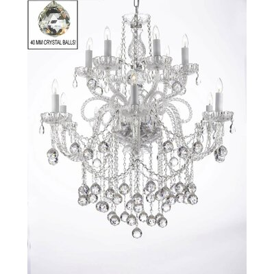 Swarovski 12-Light Crystal Chandelier