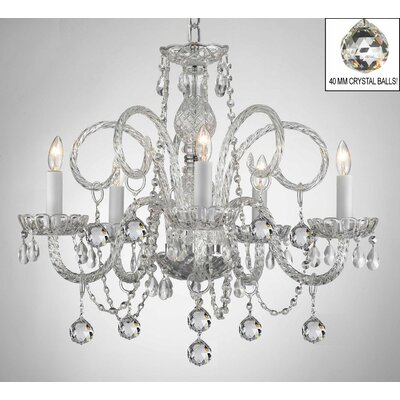 Karratha Swarovski 5-Light Crystal Chandelier
