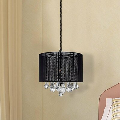 Kammer 3-Light Drum Chandelier Shade Color: Black