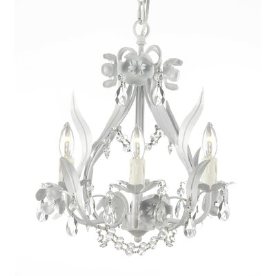 Keaney 1-Light Crystal Chandelier