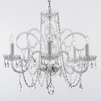 Keeton 5-Light Crystal Chandelier