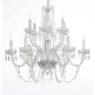 Venetian 12-Lights Crystal Chandelier