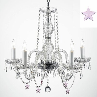 Doty 5-Light Crystal Chandelier