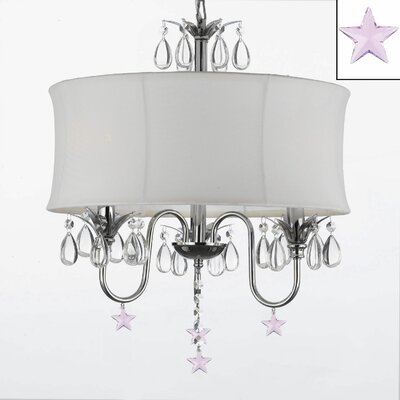 Dougherty 3-Light Drum Chandelier Shade Color: White