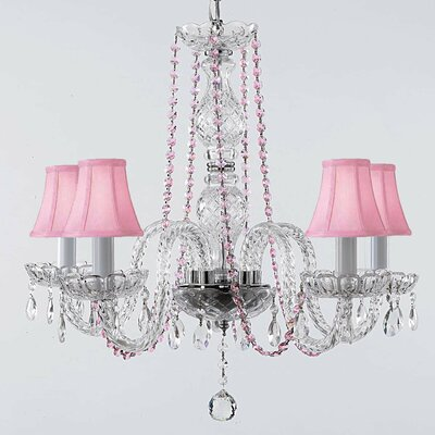 Katsikis 5-Light Crystal Chandelier