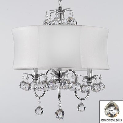Kaczor 3-Light Drum Chandelier Shade Color: White