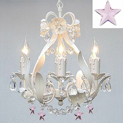 Barrie Floral 4-Light Crystal Chandelier