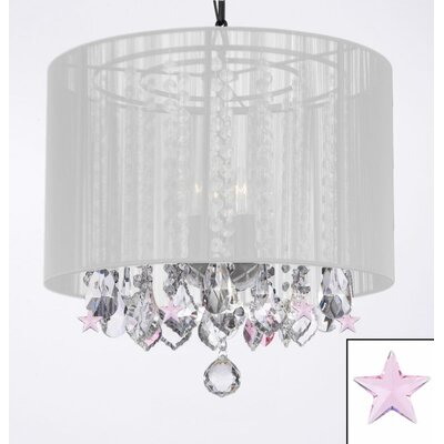 Downey 3-Light Drum Chandelier